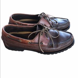 Sperry Two Tone Leather Boat Shoes 2 Eye Size 10.5